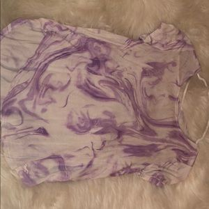 hollister purple marble top
